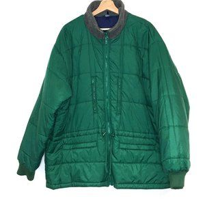 vintage AEO quilted puffer jacket urban coat green